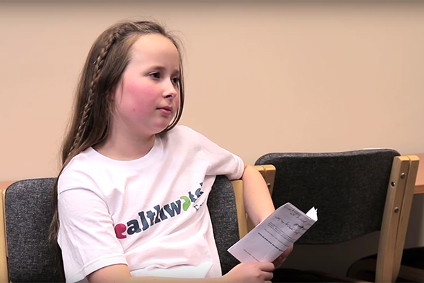 Ten-year-old 'Healthwatch Harriet' grills health bosses on STPs