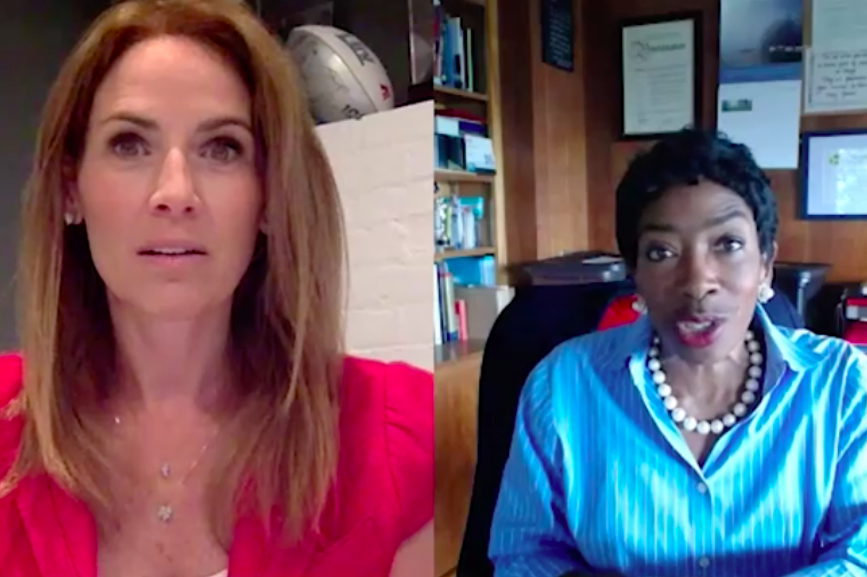 L-R: GENYOUth's Alexis Glick and Morgan Stanley's Carla Harris.