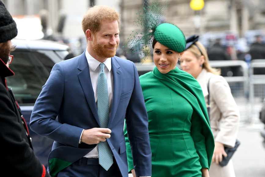The Duke and Duchess of Sussex at Commonwealth Day celebrations in London in March. (Photo credit: Getty Images)