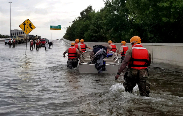 Hurricane Harvey recovery efforts continue in Houston. (Image via Wikimedia Commons).