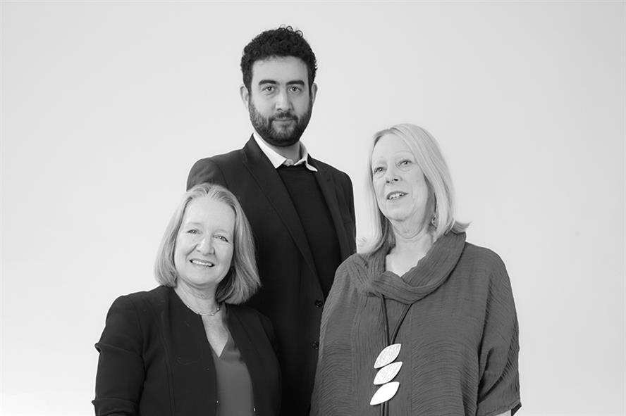 (L-R) Deborah Mattinson, Ben Shimshon and Viki Cooke, founding partners of BritainThinks