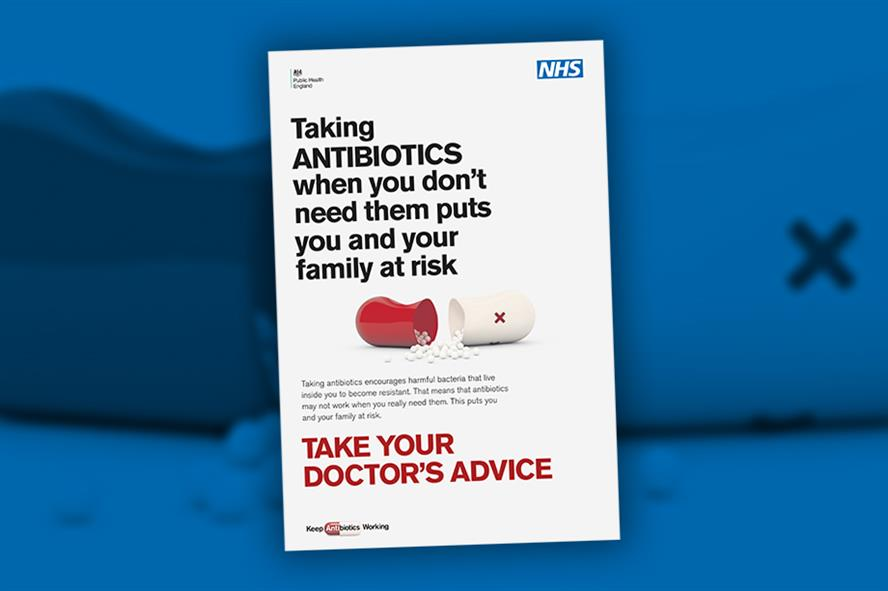 One of the posters being used in PHE's new campaign