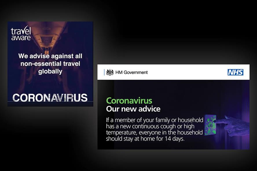 The latest coronavirus comms messaging from the DHSC and FCO