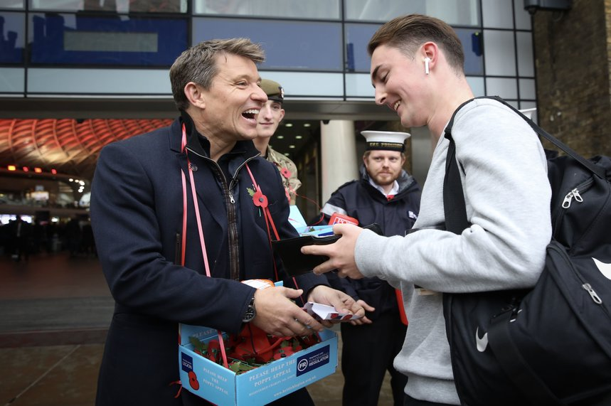 TV presenter Ben Shepherd, one of the celebrities helping to raise funds for the RBL Poppy Appeal, in London