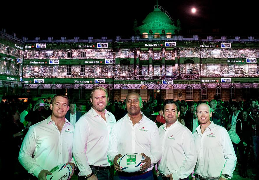 Heineken campaign begins: Rugby legends attended the launch at Somerset House