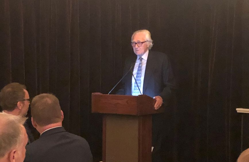 Lord Heseltine spoke with industry leaders on Tuesday night in New York City.