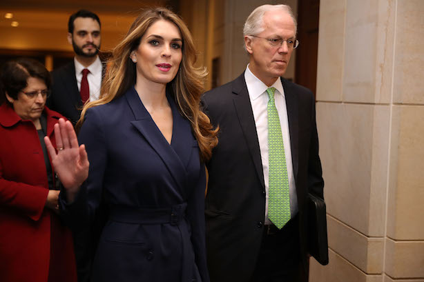 Outgoing White House Communications Director Hope Hicks (Photo credit: Getty Images).
