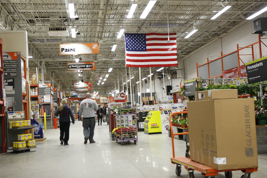 Home Depot stores might not be this empty on Black Friday, but the chain is trying to deter a crush of shoppers on the day after Thanksgiving. (Photo credit: Getty Images)