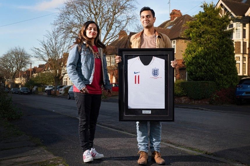 Dr Meenal Viz and husband Dr Nishant Joshi were named among the FA's 'Lionhearts' earlier this month (image via The FA)