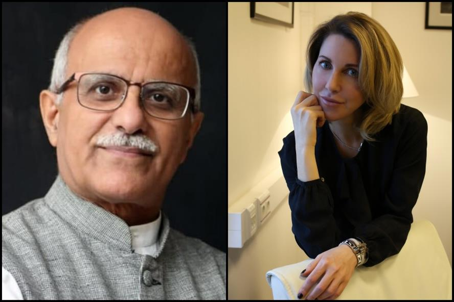 From left: Achal Paul, founder and director of BUZZ Communications India; Elena Groznaya, senior partner of iMARS Communications.