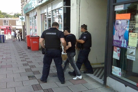 One of the pictures of the raids put out by the Home Office