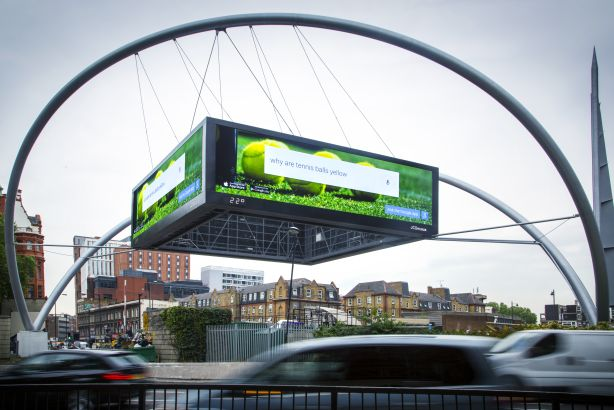 JCDecaux: Old Street roundabout's iconic digital billboard