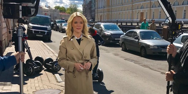 NBC News' Megyn Kelly before her interview with Russian President Vladimir Putin. (Image via Kelly's Twitter account).