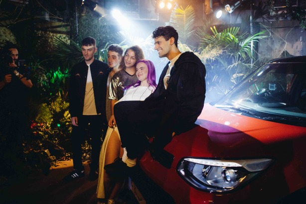 Kia: Clean Bandit pose with a Kia Soul for YouTube Music Awards launch