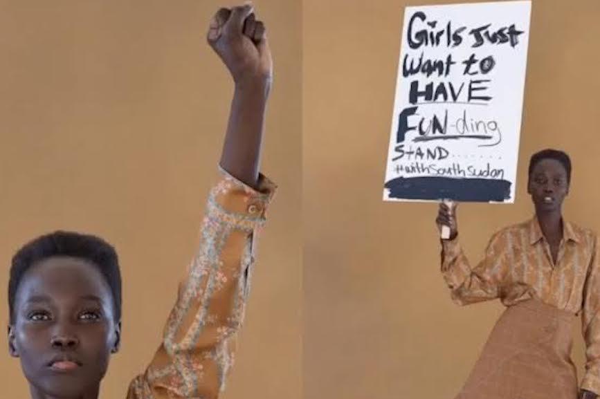 D.J. Mari Malek's Instagram post about Kiva's campaign.