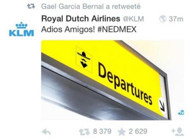 KLM's tweet: Removed after backlash