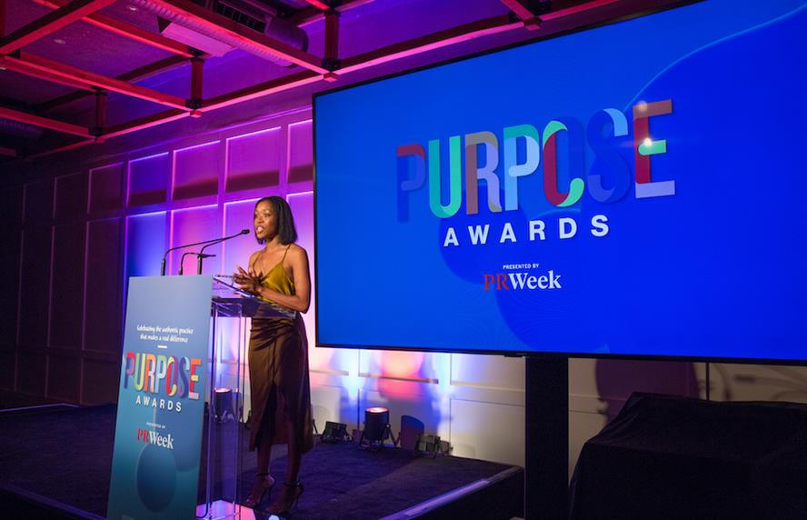 Kroger director of media relations and corporate comms Kristal Howard at the 2021 PRWeek Purpose Awards on October 13, 2021. Howard was jury chair for the Purpose Awards judging.