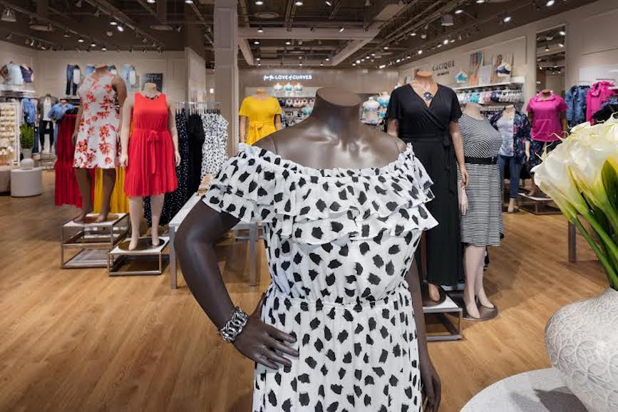 New mannequins at Lane Bryant's Columbus store.
