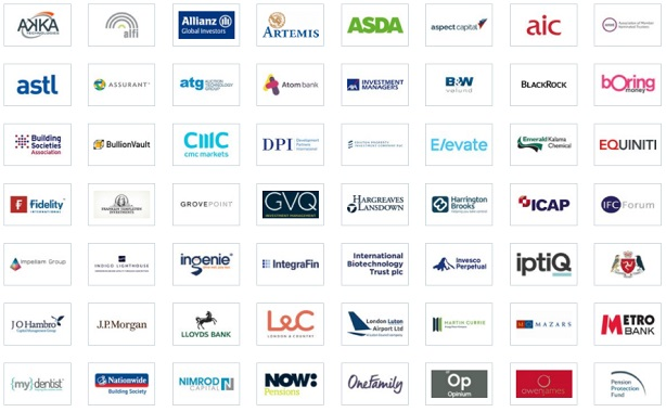 Lansons: clients' logos displayed on agency website