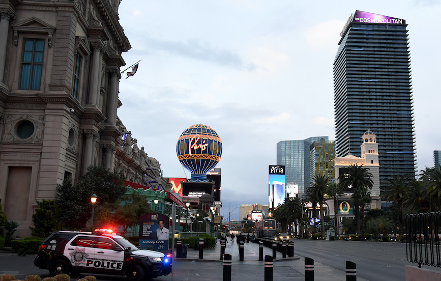 The empty Las Vegas Strip. (Photo credit: Getty Images).