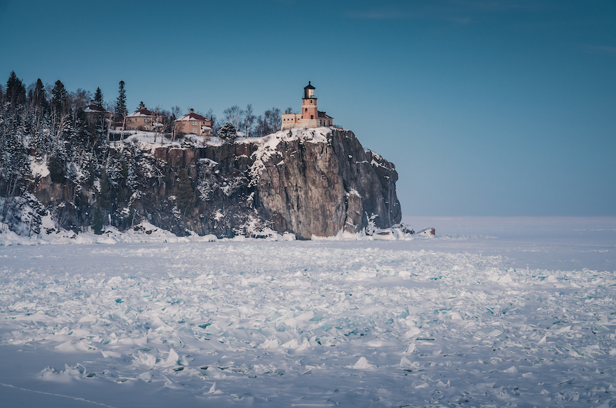 Caption: Split Rock Lighthouse on the shows of Lake Superior. (Photo credit: Getty Images)