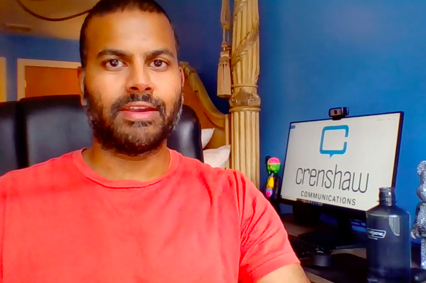 Crenshaw Communications' Chris Harihar never thought he'd move from Manhattan to New Jersey.