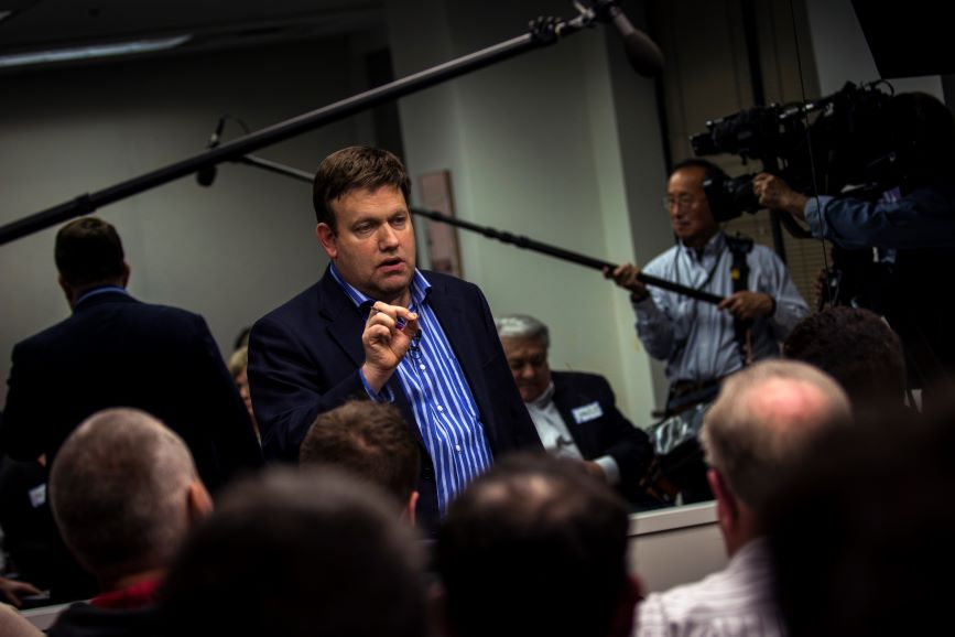 GOP pollster Frank Luntz was a founder of the firm now known as Storyline Strategies (Photo credit: Getty Images)