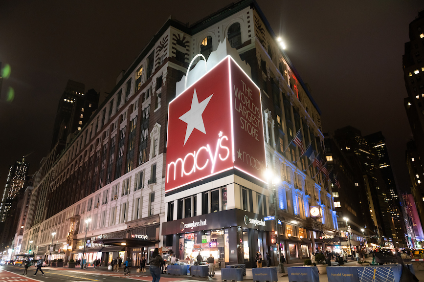 Macy's Herald Square in New York City. (Photo credit: Getty Images).