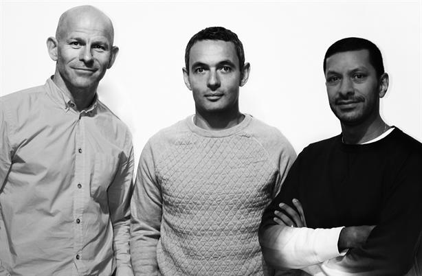 Exposure: Keir Mather (centre) has resigned, while co-CEOs Tim Bourne (left) and Raoul Shah remain