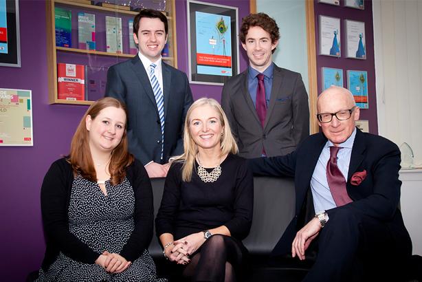Acceleris team (l-r): Ellie Smith, Alex Whitaker, Louise Vaughan, Jack Williams, Peter Davenport
