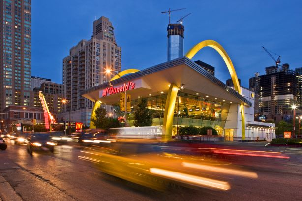 A McDonald's in Chicago's River North neighborhood. (Photo credit: Getty Images)