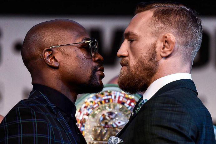 Mayweather (l) and McGregor go head-to-head on Saturday (via @thenotoriousmma on Instagram)