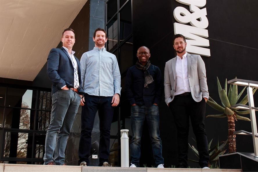 L-R: Levergy directors Clint Paterson and Struan Campbell, M&C Saatchi group chair Jerry Mpufane, and Levergy director Kieren Jacobsen
