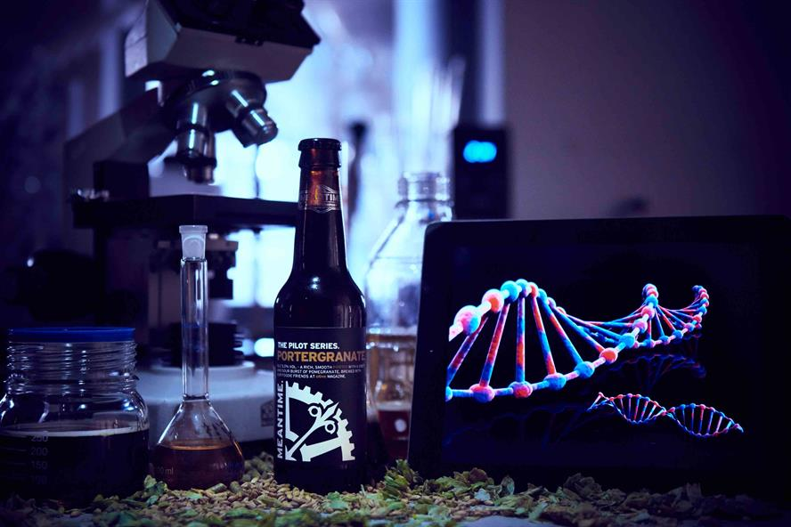Hope&Glory created personalised Meantime beer in 2016 using DNA testing