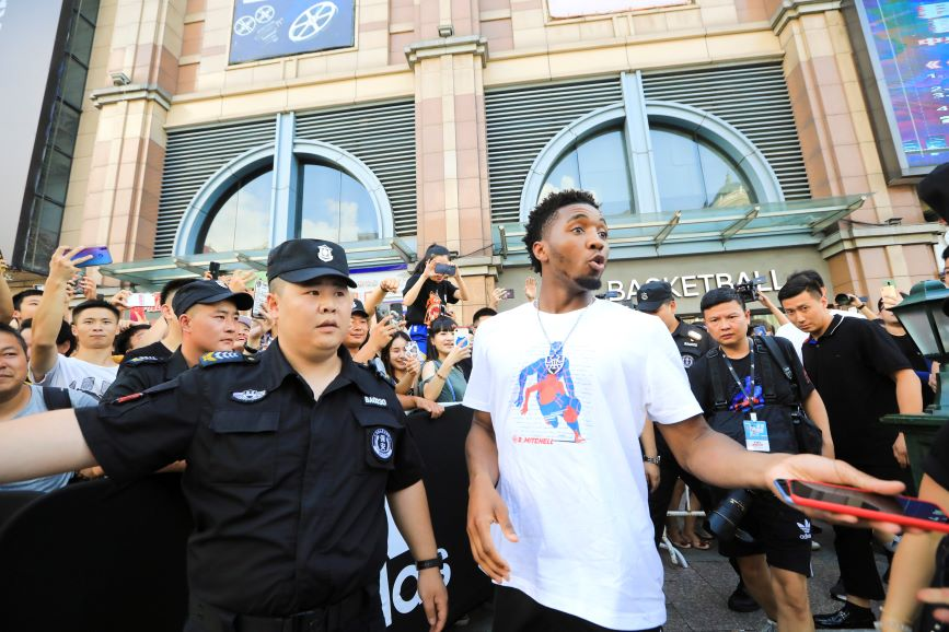 NBA star Donovan Mitchell in Shenyang, China, in July (Photo credit: Getty Images_