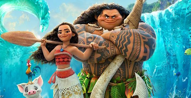 Disney said it will no longer sell a costume of Maui (L) after accusations of racism. (Image via the Facbeook page for Disney's Moana).