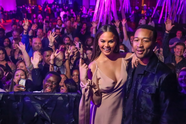 Chrissy Teigen and John Legend at the Mohegan Sun event