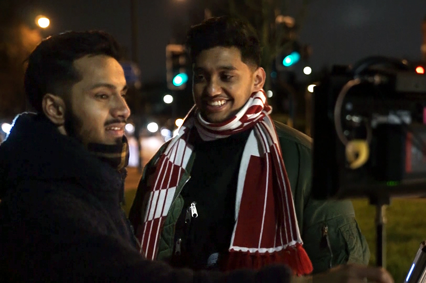 (L-R) Ala Uddin and Arif Miah want to reset how Muslims are perceived in the media