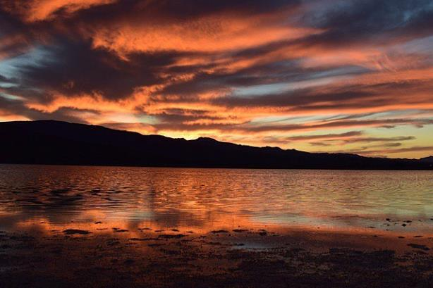 Pahranagat National Wildlife Refuge's Lower Lake. (Image via Travel Nevada's Facebook page).