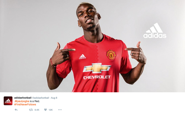 Adidas capitalised on Paul Pogba's return to Manchester United