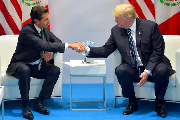 L-R: Mexican President Enrique Pena Nieto and U.S. President Donald Trump (Image via Wikimedia Commons, by Presidencia de la República Mexicana - Cumbre de Líderes del G20, CC BY 2.0, https://commons.wikimedia.org/w/index.php?curid=60769832)