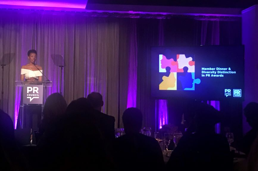 HeForShe leader Elizabeth Nyamayaro inspired everyone at the Diversity Distinction in PR Awards.