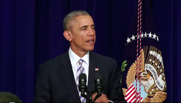 President Obama speaks about combatting extremism on Wednesday.