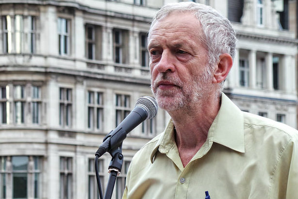 Jeremy Corbyn at an anti-war event in London last year (Credit: Garry Knight on flickr)