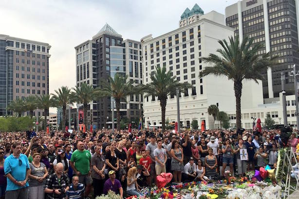 Thousands of Orlando residents gathered for a vigil on Monday night. (Image via the Orlando Police Department's Facebook page).