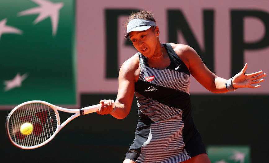 Caption: Naomi Osaka at this year's French Open. (Photo credit: Getty Images).