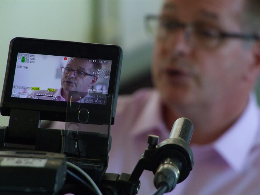 Stephen Chandler, director of adult services, Somerset County Council, being filmed for the Panorama documentary