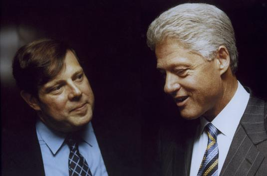 Penn with former President Bill Clinton (Photo via MarkPenn.com).