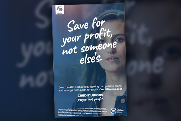 One of the posters used to promote the Scottish Government's 'People, not profit' campaign