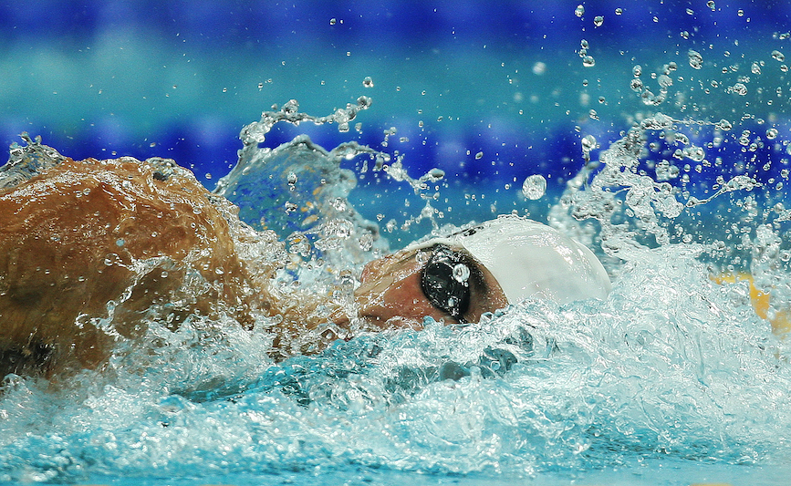 Michael Phelps at the 2008 Olympics in Beijing. (Photo credit: Getty Images).